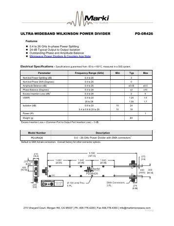 Pd 0r426 Marki Microwave