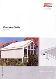 Wintergarten-Markise Typ W6