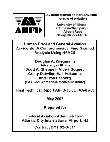 an overview of the concept of accidents and aircraft investigation Pursuant to article 37 of the convention on international civil aviation (chicago, 1944) and were designated as annex 13 to the convention the standards and recommended practices were based on recommendations of the accident investigation.