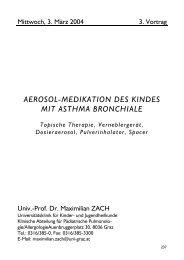 AEROSOL-MEDIKATION DES KINDES MIT ASTHMA BRONCHIALE