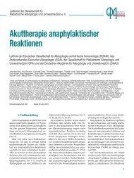 Akuttherapie anaphylaktischer Reaktionen - Gesellschaft für ...