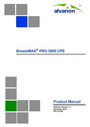 BreezeMAX PRO 5000 CPE Product Manual, Ver.1.7 - Alvarion