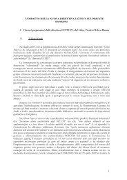 1 L'IMPATTO DELLA NUOVA DIRETTIVA UCITS IV SUL PRIVATE ...