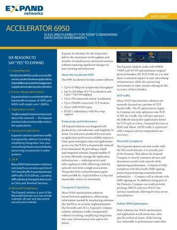 ACCELERATOR 6950 - Scunna Network Technologies