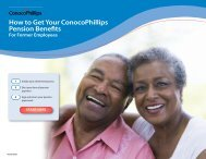 How to Get Your ConocoPhillips Pension Benefits