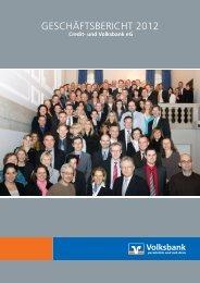 Geschäftsbericht 2012 - Volksbank