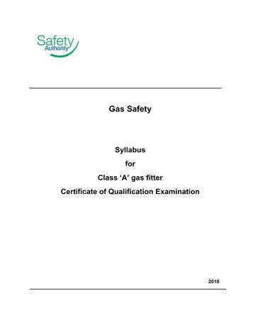 Class A gas fitter certificate of qualification - BC Safety Authority