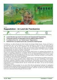 Kappadokien - im Land der Feenkamine - Hauser exkursionen
