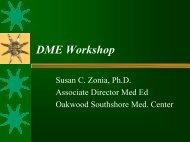 DME Workshop - Association for Hospital Medical Education