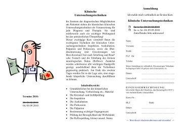 Wochenendkurs - GDT Heilpraktikerschule Siegburg