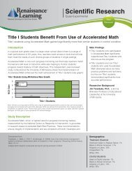 Scientific Research - Renaissance Learning