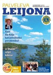 Palveleva leijona 2011-2012 - Suomen Lions-liitto ry