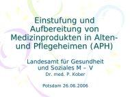 Aufbereitung von Medizinprodukten in Heimen - Brandenburg.de