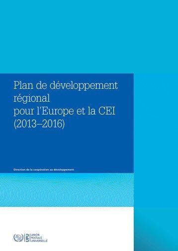 Plan de développement régional pour l'Europe et la CEI (2013–2016)