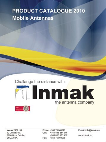 PRODUCT CATALOGUE 2010 Mobile Antennas - Inmak