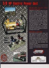 5.0HP Electric Power Unit - R & R Fire Truck Repair, Inc.