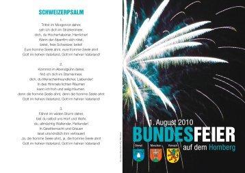 BUNDESFEIER - Reinach