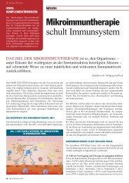 Mikroimmuntherapie schult Immunsystem - Ganzheitsmedizin ...