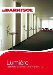 Die Lumière Broschüre herunterladen - Barrisol