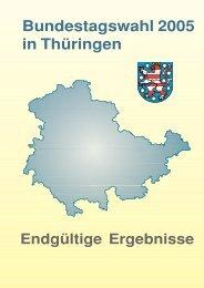 Bundestagswahl 2005 in Thüringen - Endgültige Ergebnisse