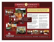Click here for Maple Chalet Flyer - Oglebay Resort