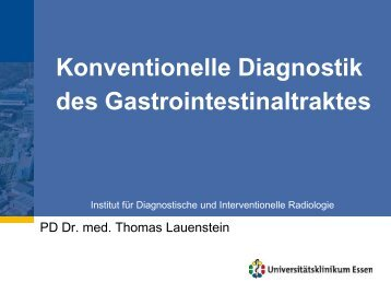 Konventionelle Diagnostik des Gastrointestinaltraktes