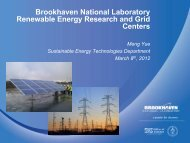 Brookhaven National Laboratory Renewable Energy Research and ...