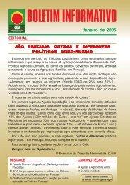Boletim Informativo Janeiro de 2005 - CNA