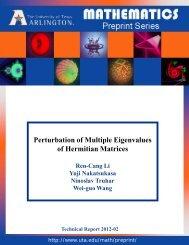 Perturbation of Multiple Eigenvalues of Hermitian Matrices