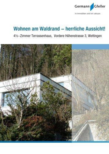 Wohnen am Waldrand - herrliche Aussicht!