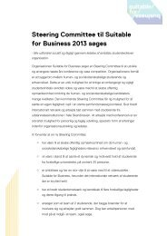 Steering Committee til Suitable for Business 2013 søges
