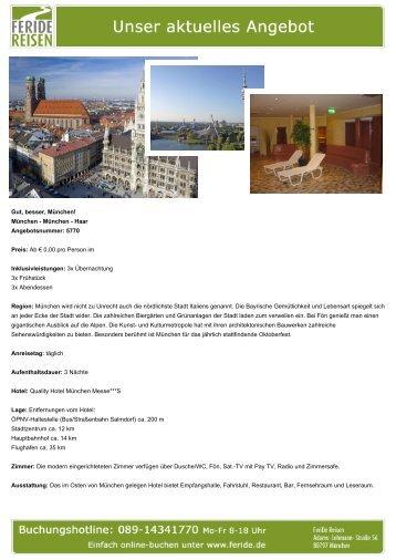Gut, besser, München! - Eventreisen - Trierischer Volksfreund