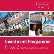 Investment Programme - Beswick, Clayton ... - Eastlands Homes