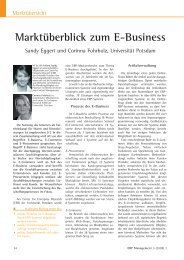Marktüberblick zum E-Business - Productivity Management