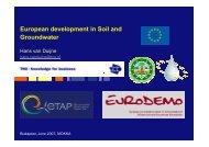 European development in Soil and Groundwater - MOKKKA.hu