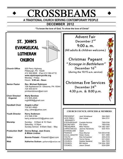 Lutheran Chorale Christmas 2021 Kern County St John S Evangelical Lutheran Church St John S Perrysville