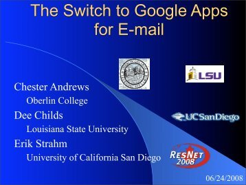 The Switch to Google Apps for E-mail - The 2013 ResNet Student ...