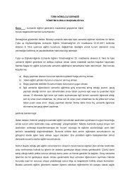 Uzmanlık eğitimi görenlerin mazeretsiz geçişlerine - Türk Nöroloji ...