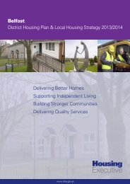 Belfast District Housing Plan & Local Housing Strategy 2013/2014 ...
