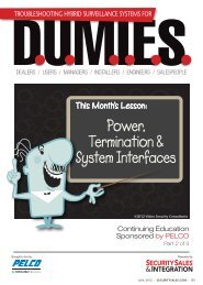 Power, Termination & System Interfaces - Security Sales ...