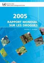 rapport mondial sur les drogues - United Nations Office on Drugs ...