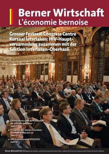 Magazin Berner Wirtschaft 02/2011 - Handels- und Industrieverein ...