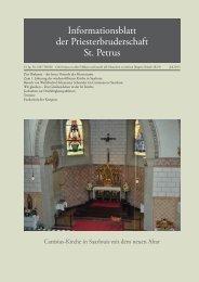 Juli 2013 - Priesterbruderschaft St. Petrus