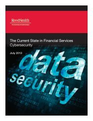 The Current State in Financial Services Cybersecurity - Reed Smith