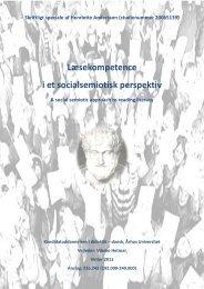 Læsekompetence i et socialsemiotisk perspektiv - Viden om Læsning