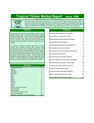 Tropical Timber Market Report since 1990 - ITTO