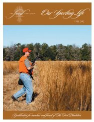 Our Sporting Life Fall 2012.indd - The Ford Plantation
