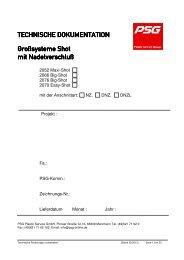 Großsysteme Shot mit Nadelverschluss - PSG Plastic Service GmbH
