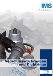 Verschluss-Schrauben und Dichtringe - IMS Verbindungstechnik ...
