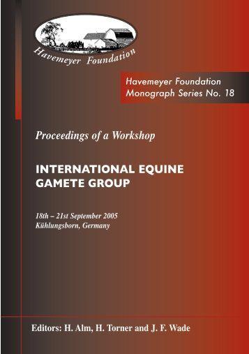 Proceedings of a Workshop INTERNATIONAL EQUINE GAMETE ...